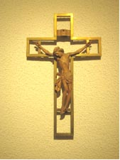 picture of the crucifix from St Joseph's, Pudsey